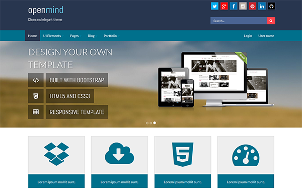 Open Mind – Responsive Bootstrap Template