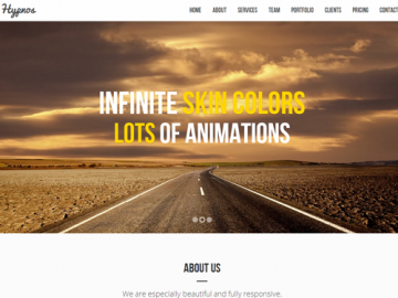 Hypnos Multipurpose Bootstrap Template