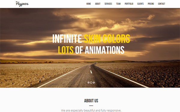Hypnos – Multipurpose Bootstrap Template