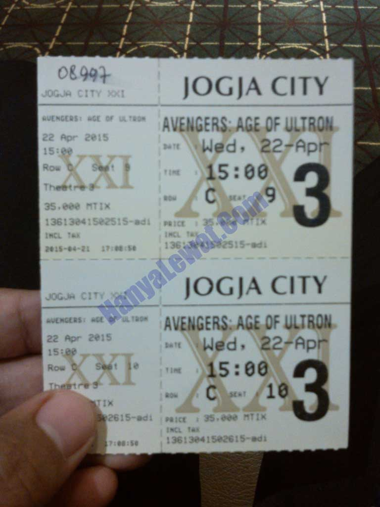 Tiket The Avengers: Age of Ultron