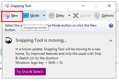 Snipping Tools Windows 10